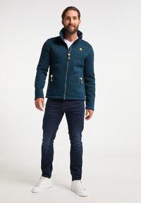 Schmuddelwedda - Fleece jacket - petrol melange - 1
