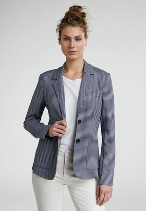 IN HAHNENTRITT - Blazer - dark blue/white