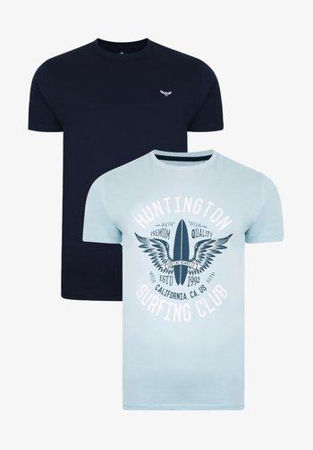2ER PACK - T-shirt med print - mehrfarbig