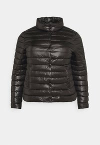 Missguided Plus - LIGHTWEIGHT RIBBED PUFFER JACKET - Light jacket - black - 4