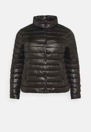 LIGHTWEIGHT RIBBED PUFFER JACKET - Light jacket - black