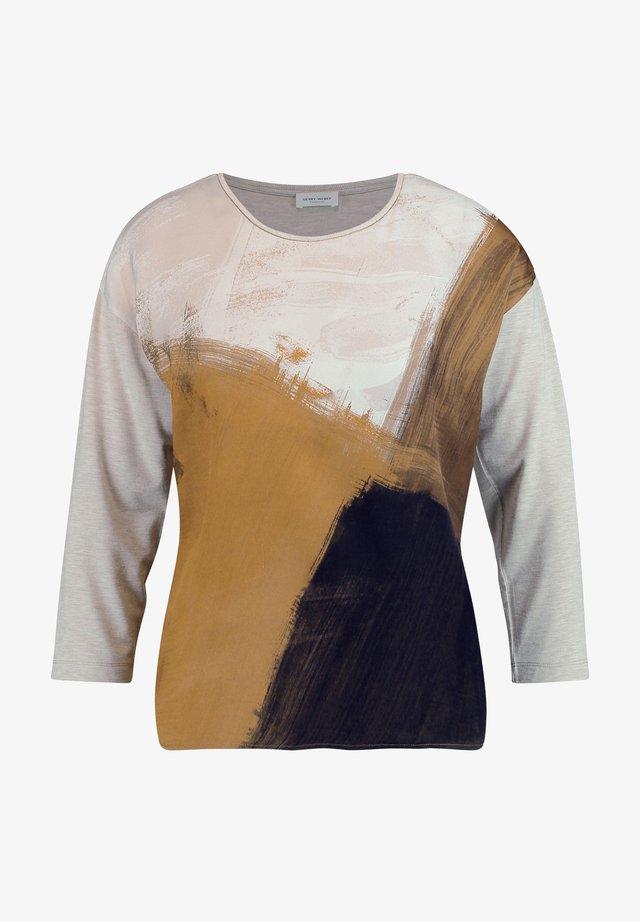 T-shirt à manches longues - ivory/ honey/ chocolate
