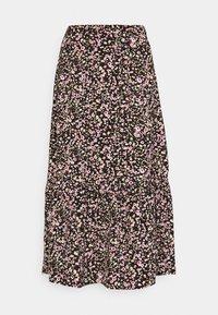 JDY - JDYURBAN MIDCALF SKIRT - A-line skirt - black/multicolor - 3