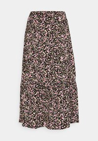 JDYURBAN MIDCALF SKIRT - A-line skirt - black/multicolor