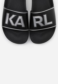 KARL LAGERFELD - KONDO MAXI PLATFORM SLIDE - Sandalias planas - black - 6