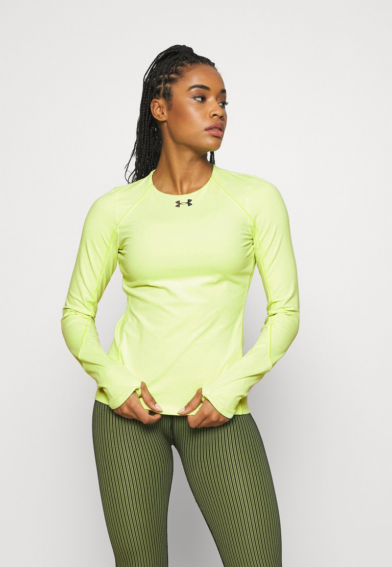 Under Armour - RUSH CREW - Long sleeved top - lime fizz