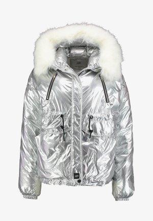 PUFFER HOOD - Zimní bunda - silver