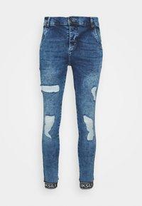 SIKSILK - CUFFED - Skinny džíny - blue - 3