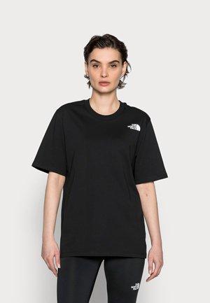 REDBOX TEE - Print T-shirt - black-arrowwood/yellow