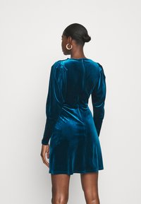 Closet - CLOSET WRAP FRONT PUFF SHOULDER DRESS - Day dress - teal - 2