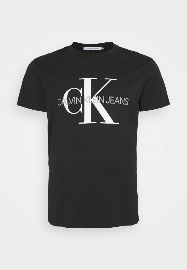 ICONIC MONOGRAM SLIM TEE - T-shirt med print - black