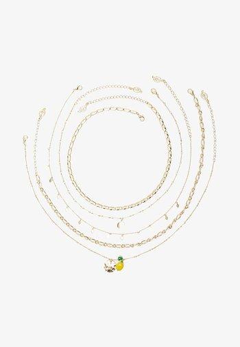 5ER SET - Necklace - multi-coloured