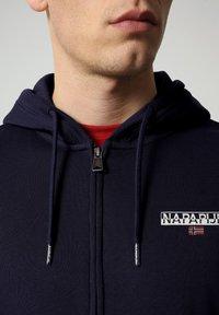 Napapijri - B-ICE FULL ZIP HOOD - Zip-up hoodie - medieval blue - 2