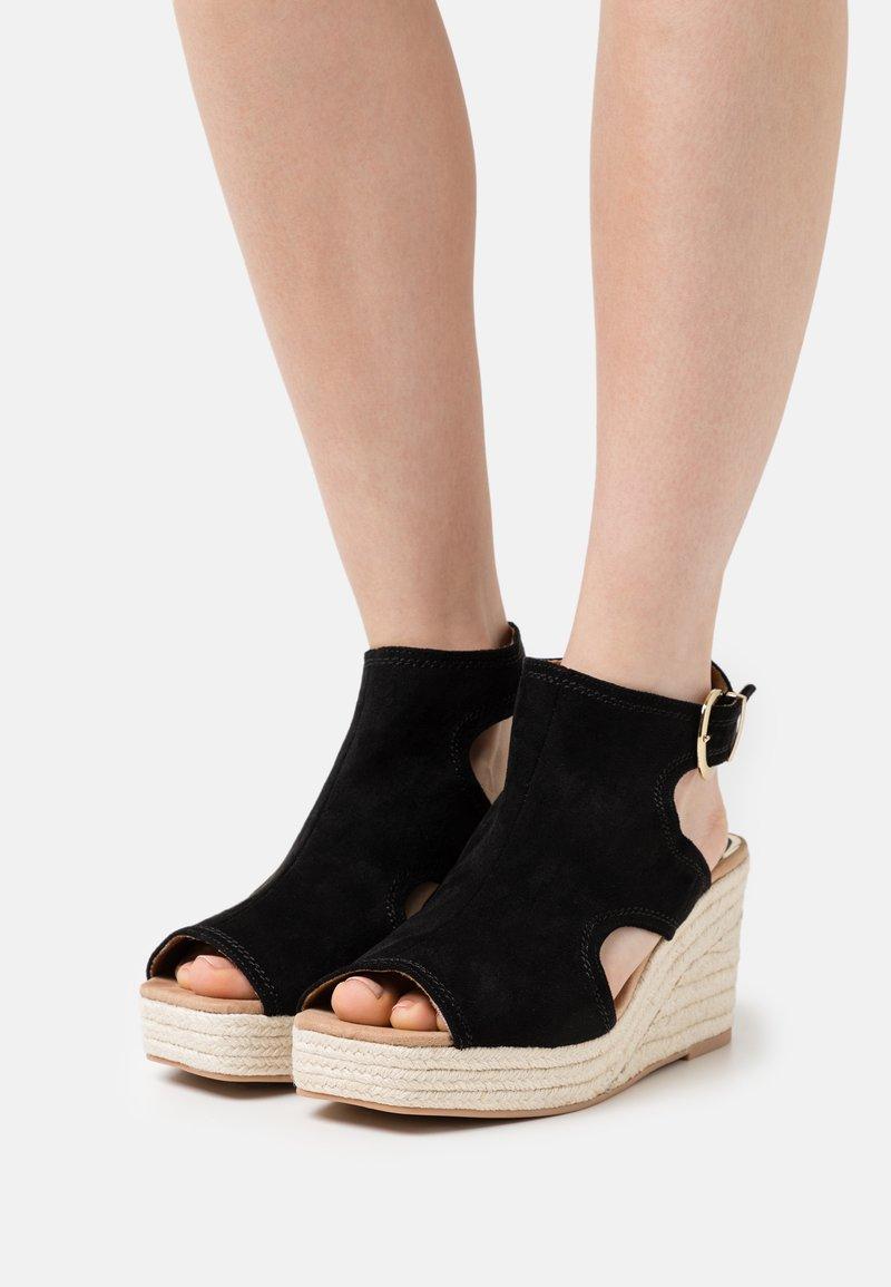 River Island Wide Fit - Platform sandals - black