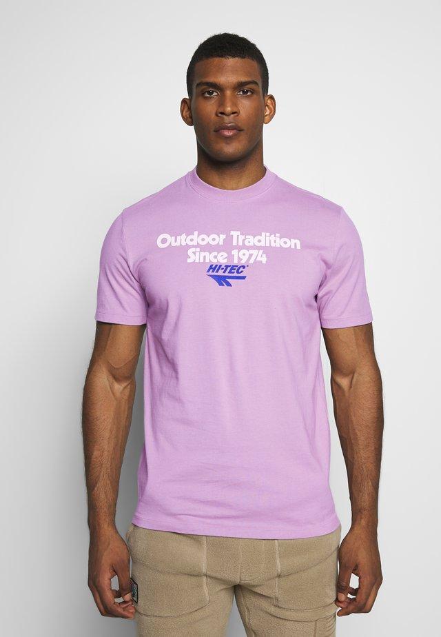 ANTON - T-shirt z nadrukiem - soft purple