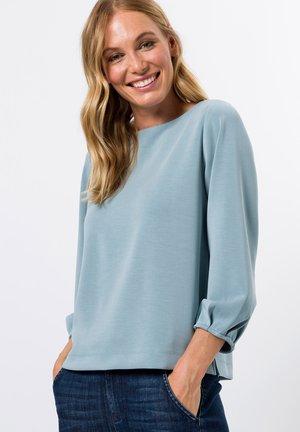 MIT U  AUSSCHNITT - Sweater - dusky blue