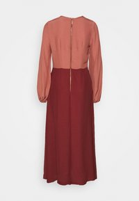 Closet - GATHERED NECK A LINE DRESS - Day dress - brick - 1