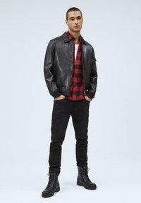Pepe Jeans - MOORE - Leather jacket - black - 1