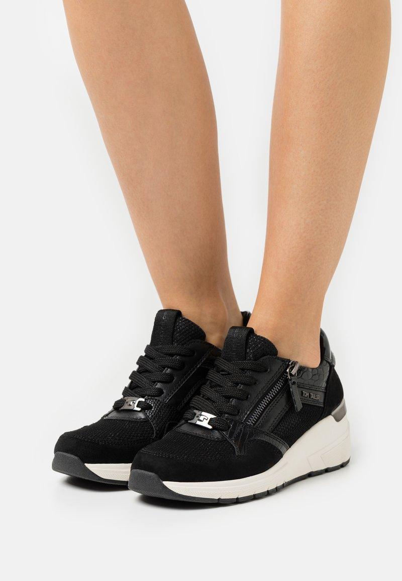TOM TAILOR - Sneakers laag - black
