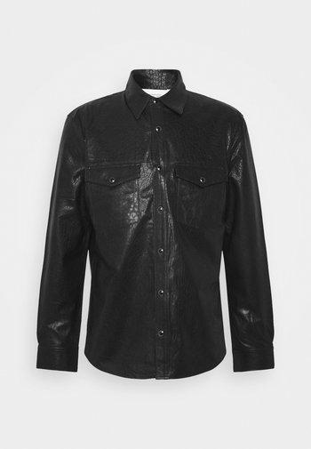 WRIGHT - Kožená bunda - black