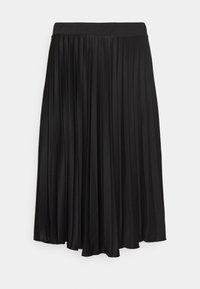Dorothy Perkins Curve - CURVE PLEAT MIDI SKIRT - A-line skirt - black - 3