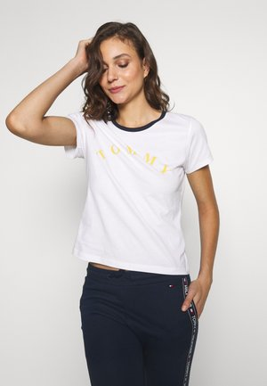SLEEP TEE SLOGAN - Pyjama top - white/yellow