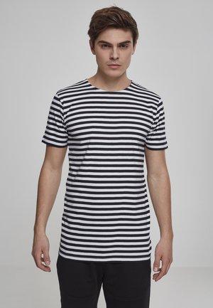 STRIPE - Print T-shirt - asphalt/black