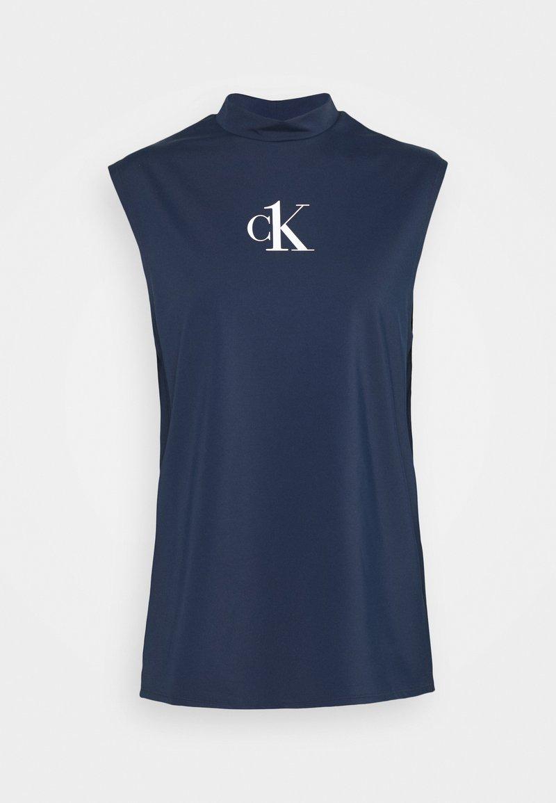 Calvin Klein Swimwear - MUSCLE TANK - Undershirt - blue