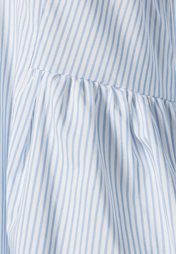 Vero Moda VMCLARA 3/4 LONG - Bluzka - snow white/cashmere blue/biały IPPA