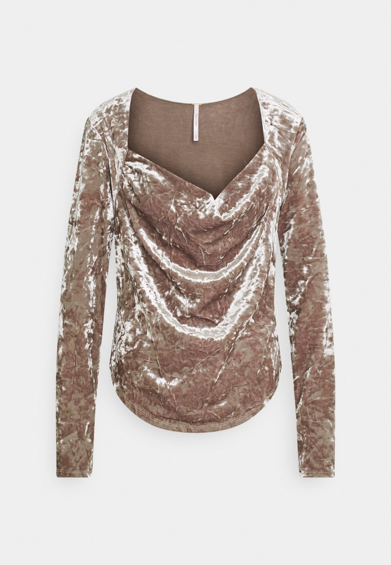 Free People - PERFECT DATE - Long sleeved top - taupe stone