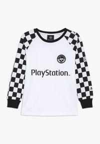 Hype - KIDS CHECKERBOARD - Camiseta de manga larga - white/black - 0