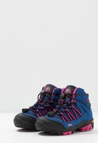TrollKids - KIDS LOFOTEN MID - Hiking shoes - blue/magenta - 3