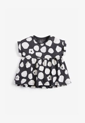 Print T-shirt - black/ white