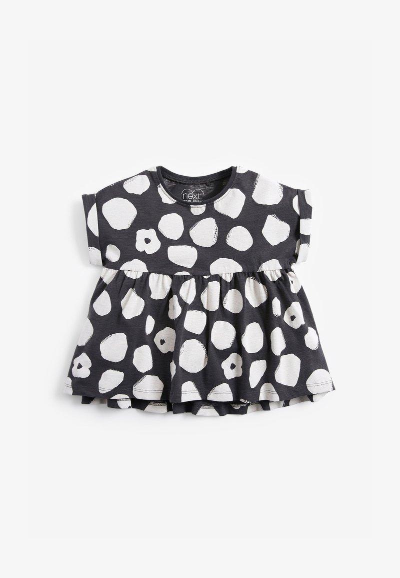 Next - Print T-shirt - black/ white
