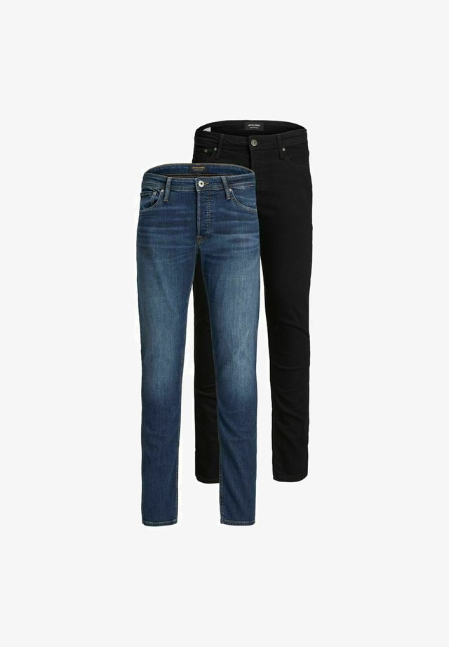 2ER-PACK GLENN  - Slim fit jeans - black denim