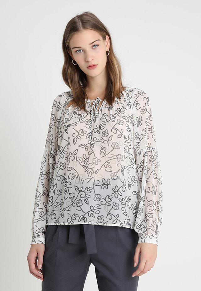 MOSAIC FLORAL PEASANT BLOUSE - Bluser - pearl ivory