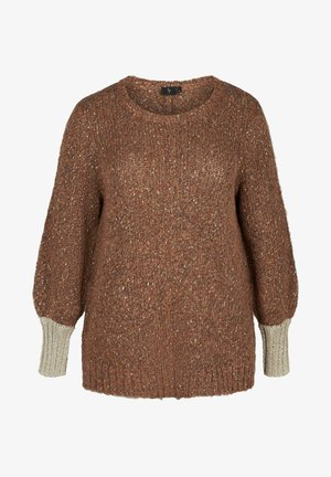 MIT WOLLE - Pullover - camel