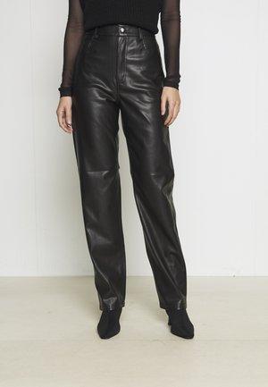 90S TROUSERS - Pantalon classique - black