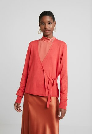 CABLE - Cardigan - terracotta