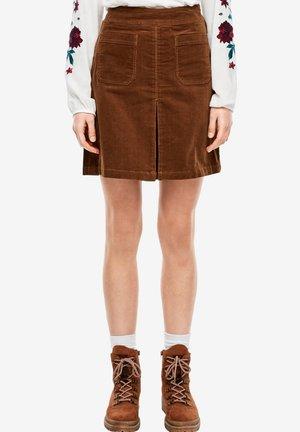 A-line skirt - soft caramel