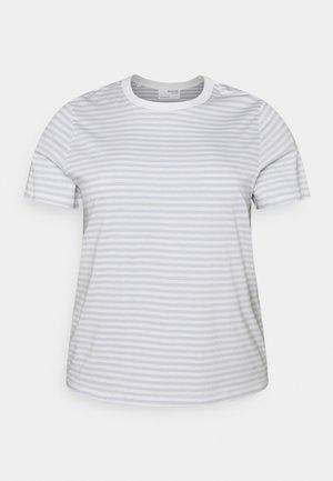 SLFPERFECT TEE BOX - T-shirt con stampa - arctic ice/snow white