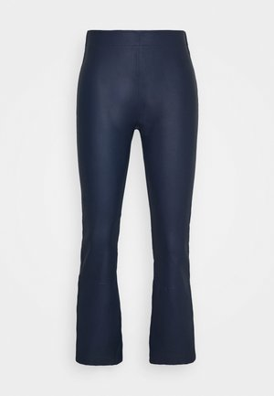 Leather trousers - ink blue