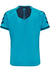 Hummel - HMLACTION POLY JERSEY S/S KIDS - Print T-shirt - atomic blue/black iris - 2