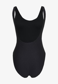 Ted Baker - TEXTURED BELTED SWIMSUIT - Swimsuit - black - 1