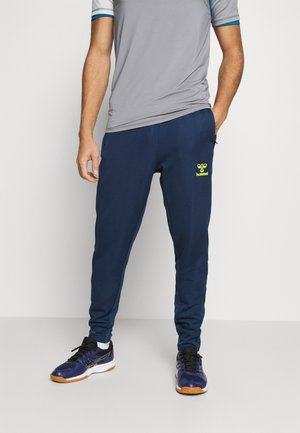 LEAD PANTS - Pantalones deportivos - dark denim