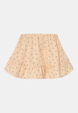 VARDA - Mini skirt - red/blue
