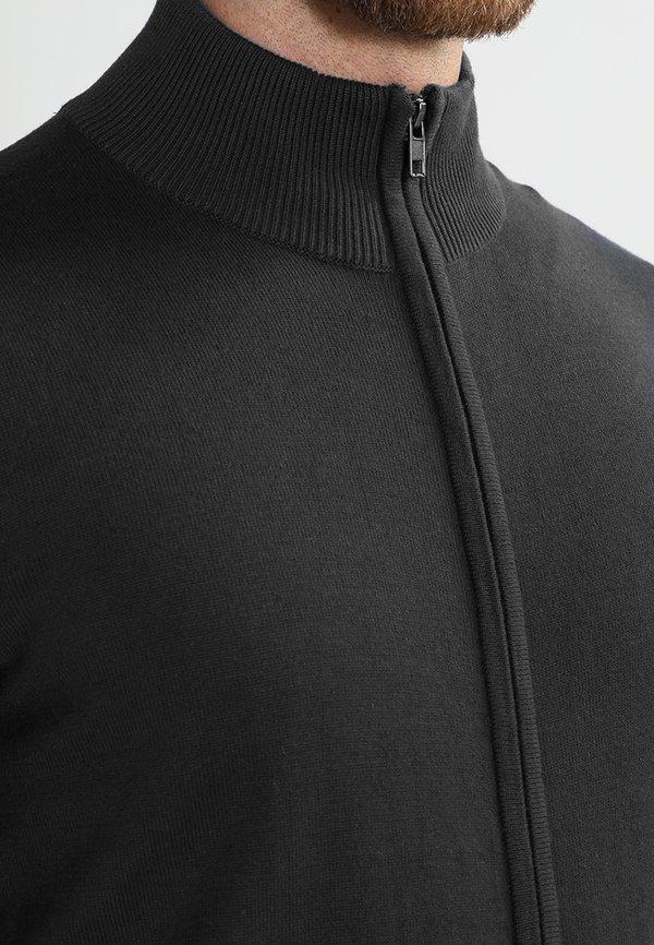 Pier One Kardigan - black/czarny Odzież Męska WZZN