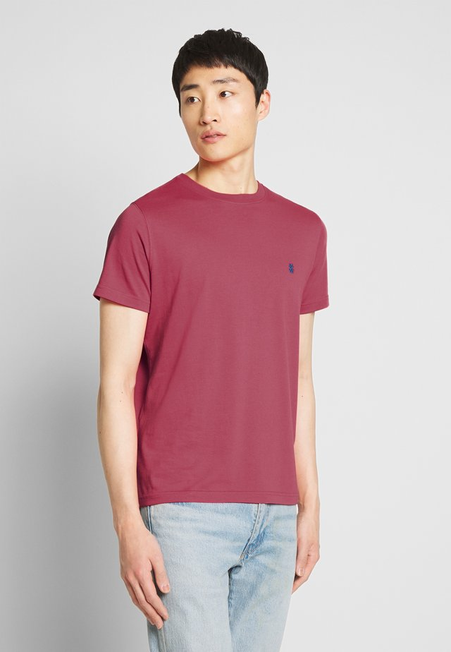 BASIC SOLID TEE - Basic T-shirt - claret red