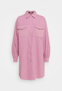 Missguided Tall - QUILTED POCKET DRESS - Shirt dress - dusky pink - 0