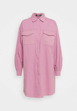 QUILTED POCKET DRESS - Shirt dress - dusky pink